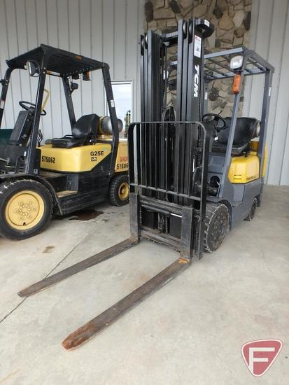 TCM PRO-CG 15 LP forklift, SN: 49A50239, 10,865 hrs showing