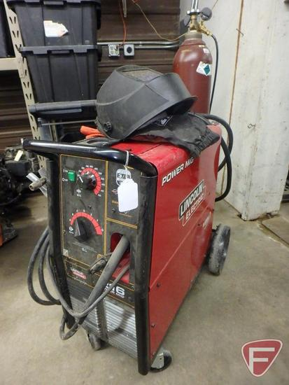 Lincoln Electric 216 Power Mig welder with Maxtrac wire drive system and diamond core technology