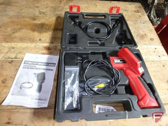 Cen-Tech high resolution digital video inspection camera with case and manual