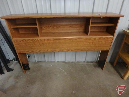 "Headboard with rails, 63""w picture frames"