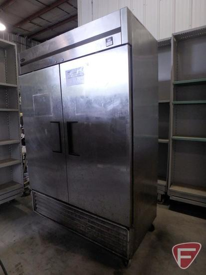 "Superior TS-491 2 door commercial fry freezer on casters, 54""x30""x83-1/2""H"