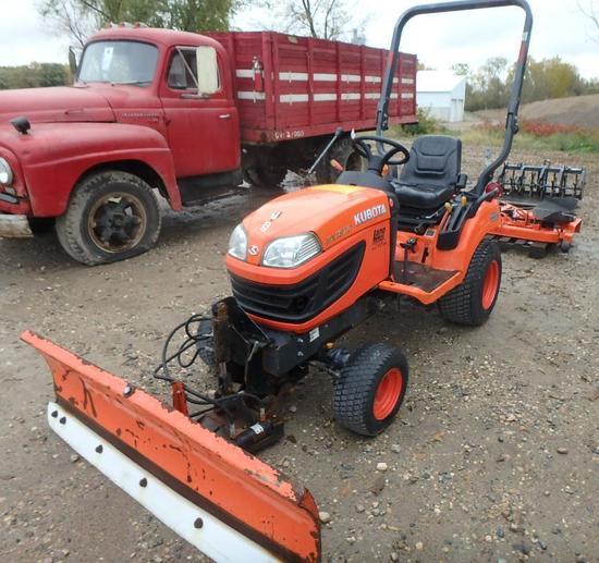 """2013 Kubota BX1870 diesel garden tractor with mid mount 60"""" mower deck, SN: 12090"""