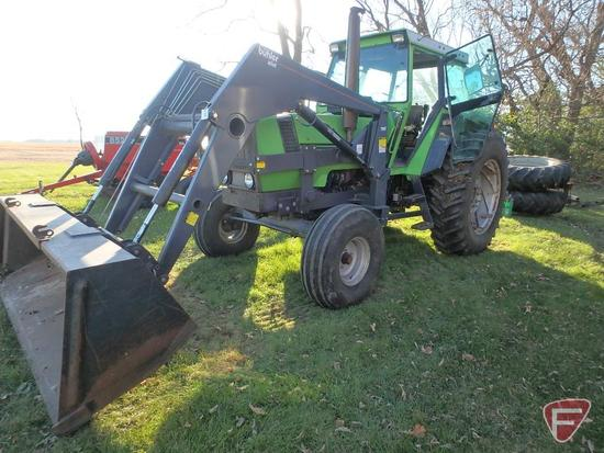 Deutz DX130 Powermatic tractor, 4949hrs showing, 121 pto rated hp. model D 1029-S, sn 78300022