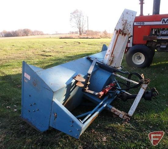 8' Farm King snowblower 3pt attachment, model 82-SB-96, sn 4841