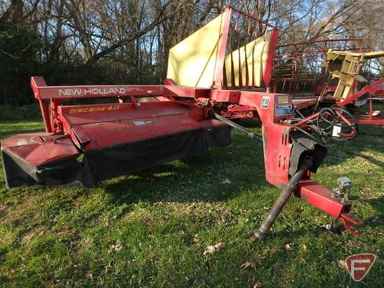 8' New Holland 411 Discbine, PTO driven, pull type mower 540 pto drive