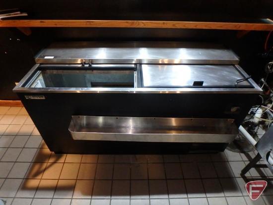 Silver King B3 Series beverage cooler, model SKBC65, stainless steel tray, 115v, 7.20amp