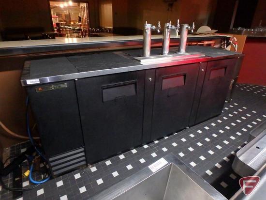 True 3-station 5-dispenser keg cooler model TBB-4, R134a refrigerant, 115v, 8.5amp