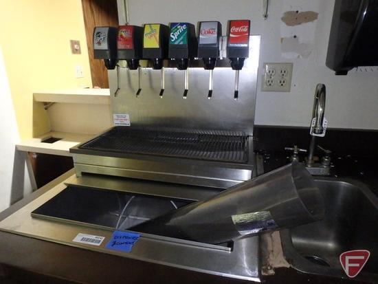 Imi Cornelius 6-line beverage dispenser with built in line cooler