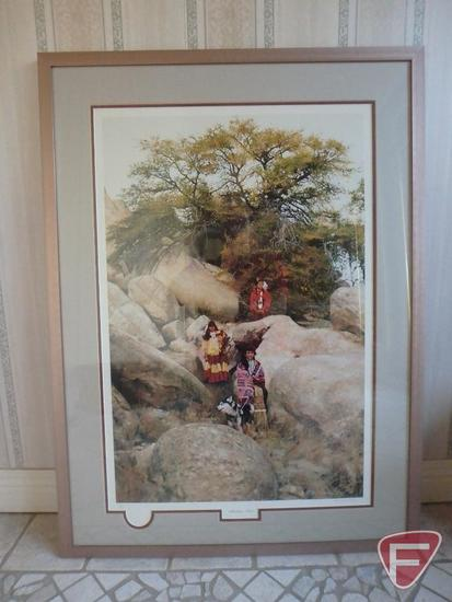 Framed and matted print, Mountain Trail, by Don Crowley, 1998 artist of the year, 72/250