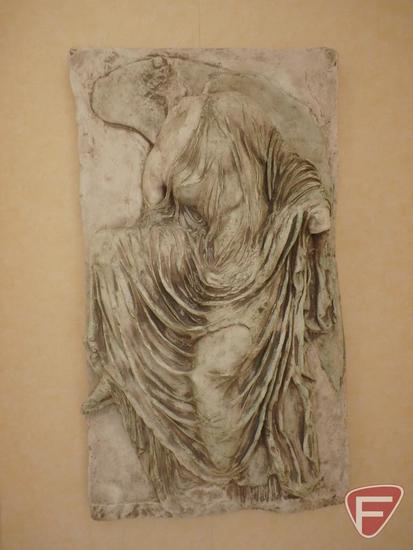 Fiberglass-like/plaster captivating piece (wall sculpture) of headless angel - Winged Victory