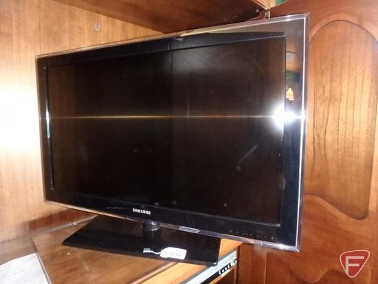 """Samsung 36"""" flat screen TV, SN Z31D3CTB500272X, and Panasonic VHS player"""