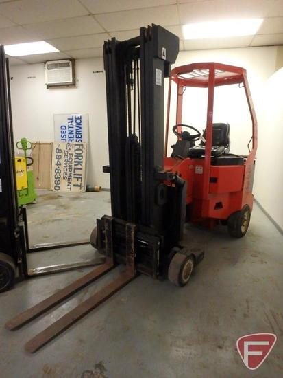 Bendi 48v electric turret forklift, 364hrs showing, 83/188 triple stage mast, full free lift