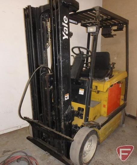 Yale 48v electric forklift, 11776hrs showing, 83/188 mast, full free lift