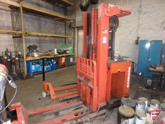 Raymond 21R40TT 36v electric standing forklift, 3783hrs showing, 95/211 triple stage mast