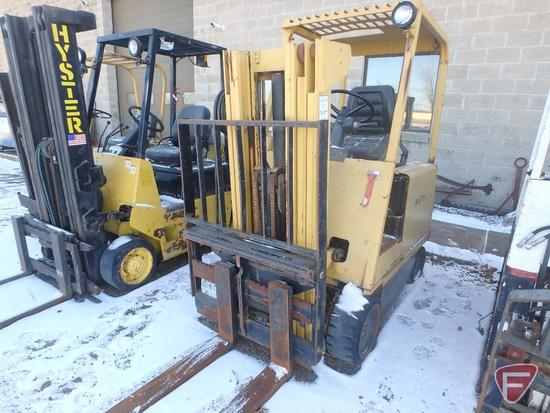 Hyster E50B 48v electric forklift, 785hrs showing, 70/171 triple stage mast, full free lift
