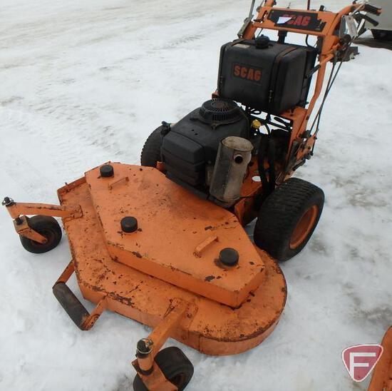 """Scag 52"""" hydro walk behind mower, model SWZ-17KA, sn 3950397"""