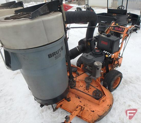 """Scag 52"""" hydro walk behind mower with vacuum collection system"""
