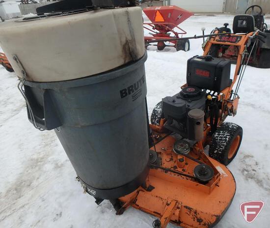 """Scag 52"""" hydro walk behind mower, sn 9060494"""
