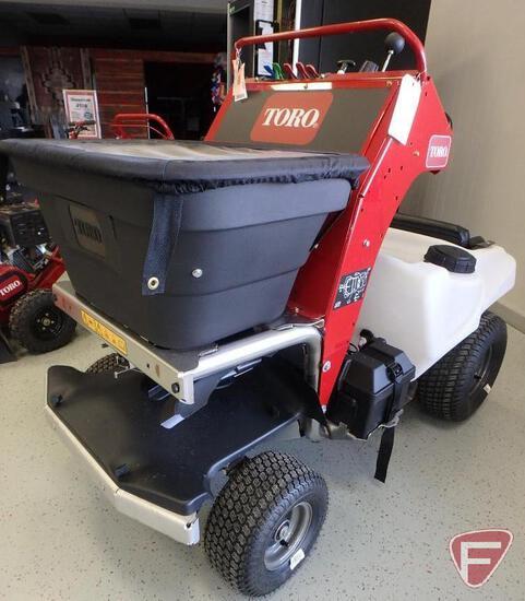 Toro stand-on spreader/sprayer with Kohler 277cc engine, 1hr, sn 405426528