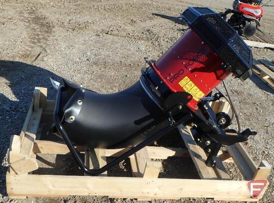 Toro Pro Force debris blower attachment with hydraulic spout turn