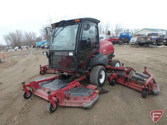 Toro 5910D diesel 16' wide area rotary mower, cab and air, 4056 hours, 4X4