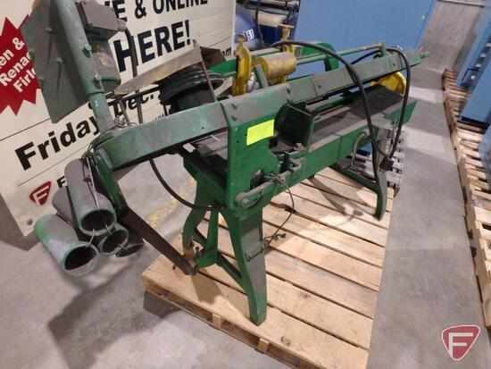 "Well's metal band saw marked for 3/4"" x 11.7"" blade, sn 14382"