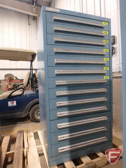 Stanley Vidmar 13-drawer tool cabinet