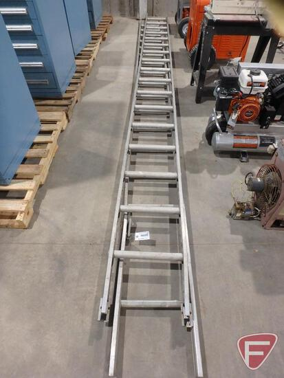 (2) 18' aluminum extension ladder sections, not connected