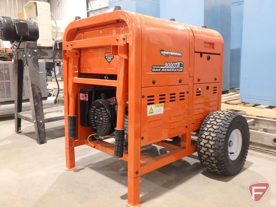 9000TB industrial portable gas generator, 0hrs showing, 120/240v