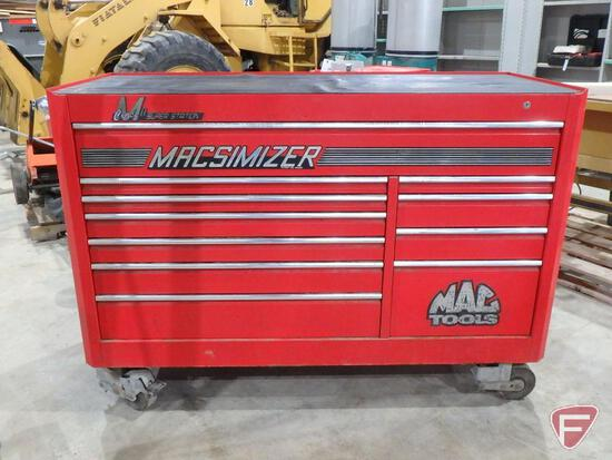 Mac Tools Macsimizer Class 2 Super Station 11-drawer tool chest on heavy duty casters