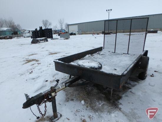 "Single axle trailer for parts with 58"" x 48"" expanded metal ramp-PARTS ONLY"