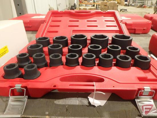 "T&E Tools 21pc 3/4"" drive metric impact socket set, No. 98521A"