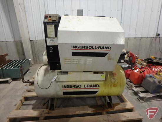 Ingersoll Rand SSR-HP15 air compressor, sn LX1256U99011, 55307hrs showing