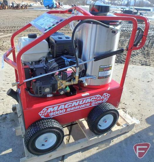 NEW 2020 Easy Kleen Magnum 4000 hot water pressure washer, model GS18, SN: 200792