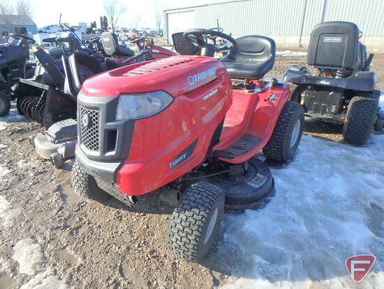 "Troy-Bilt Tuffy riding lawn mower with 17hp Kohler gas engine, 38"" deck, 7-speed transmission"