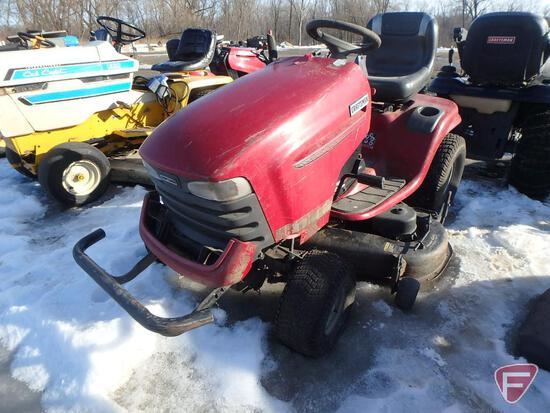 "Craftsman riding lawn mower with 20hp gas engine, 48"" deck, hydrostatic"