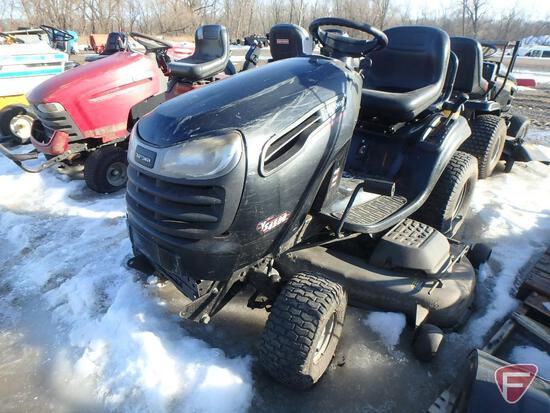 """Craftsman YS4500 riding lawn mower with 26hp gas engine, 54"""" deck, 42"""" 2-stage snow blower"""