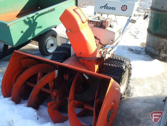 Ariens walk behind 2-stage snow blower with 8hp gas engine, tire chains, model 924012