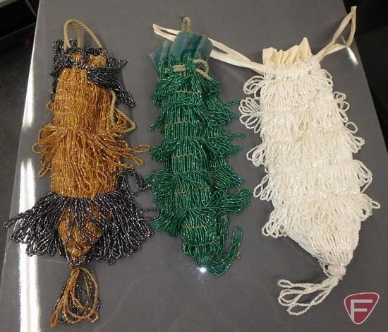 (3) Vintage beaded purses