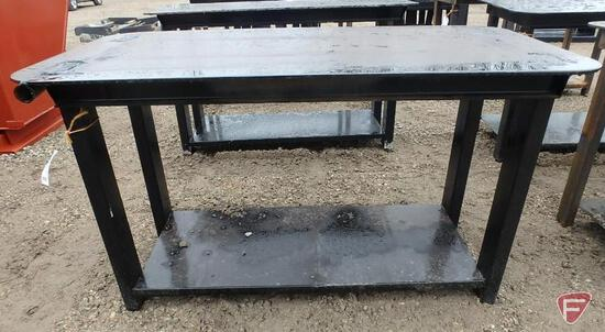 "New heavy 30"" x 57"" welding shop table, black paint"