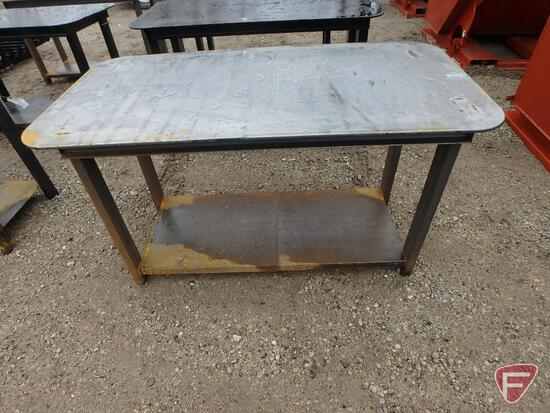 "New heavy 30"" x 57"" welding shop table"