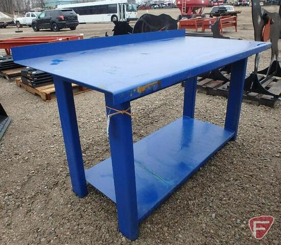 "New 29.5"" x 60"" heavy duty work bench with shelf"