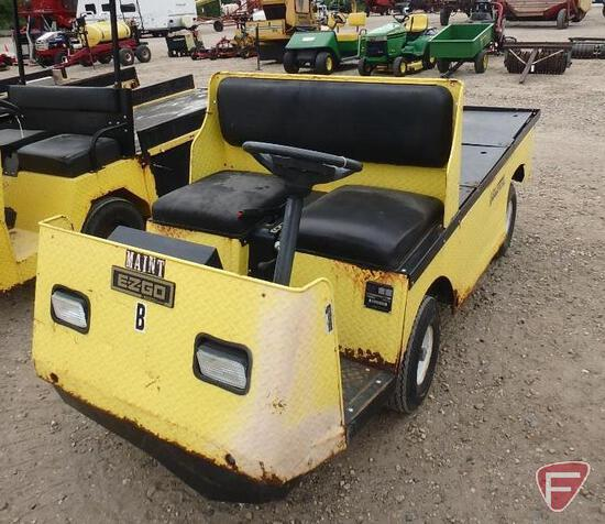 2001 EZ-GO Industrial XT875 electric utility vehicle, yellow