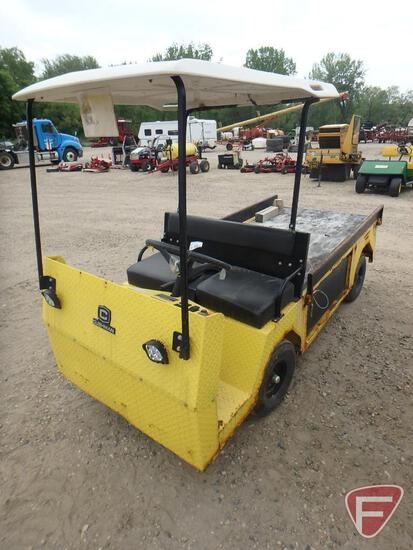 2016 Cushman Titan electric utility vehicle with canopy, 620 hours, yellow