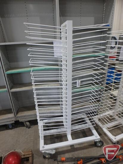 50-slot drying rack on casters