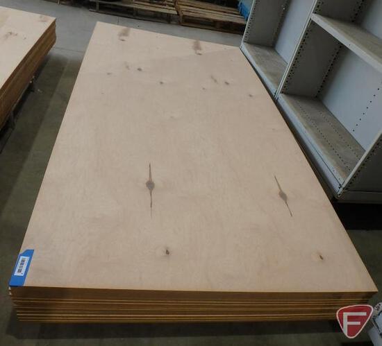 (30) 4' x 8' sheets of veneered rustic maple finishing fiberboard