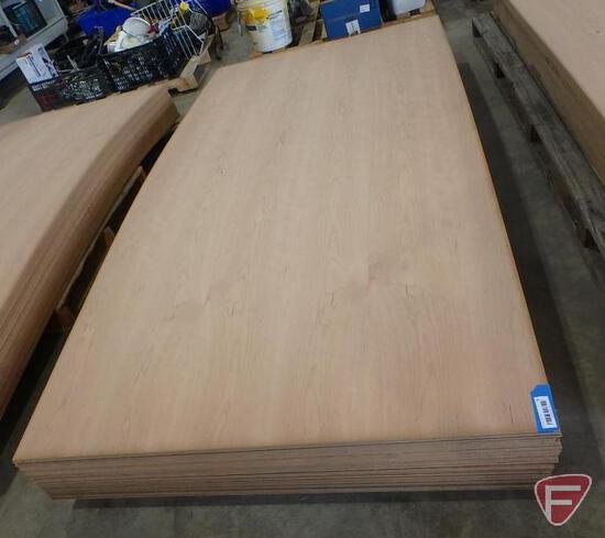 (38) 4' x 8' sheets of veneered cherry fiberboard