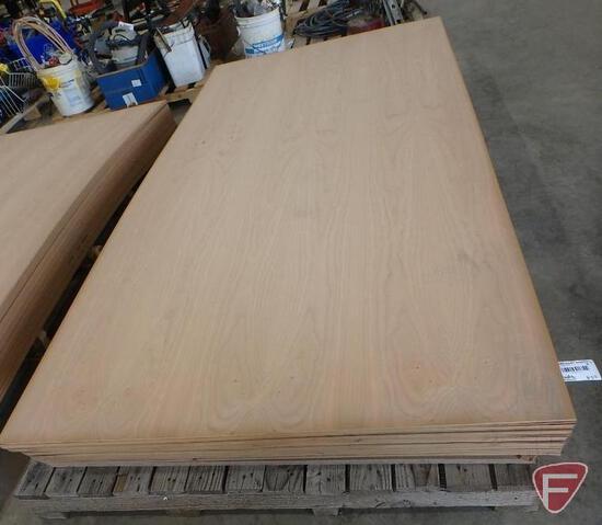 (35) 4' x 8' sheets of veneered cherry fiberboard