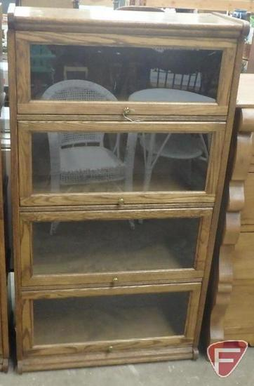 "Lawyers bookcase 31""W x 14""D x 57""H"