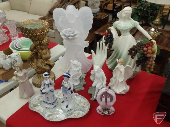 "Figurines, tallest angel 18""H. 12 pcs"